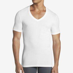 Men/'s TOMMY JOHN Cotton Basics  White V-neck  Undershirt T-shirt size M NWOT